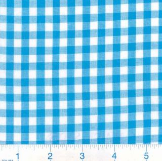 Woven 1/4 Gingham Turquoise   Discount Designer Fabric   Fabric