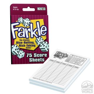 Farkle Score Sheets   Patch Products 6922   Board Games   Camping