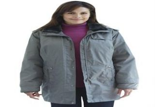 Plus Size Parka with faux fur collar  Plus Size All Coats  Woman