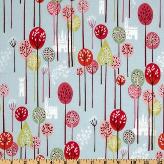 Once Upon A Time Enchanted Forest Baby Blue   Discount Designer Fabric