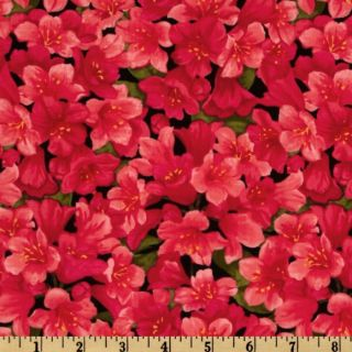 State Flowers Rhododendron Red   Discount Designer Fabric   Fabric