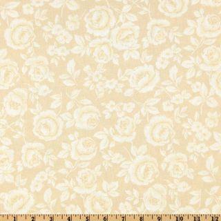 108 Flourish Quilt Backing Roses Tan   Discount Designer Fabric