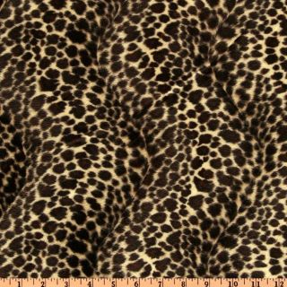 Wavy Soft Fur Cheetah Black/Tan   Discount Designer Fabric   Fabric