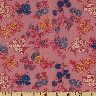 Maribel Voile Floral Pink/Blue   Discount Designer Fabric   Fabric