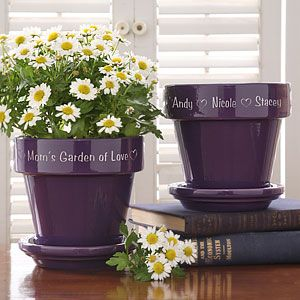Let Mom, Grandma, or any special lady showcase a blooming plant in our