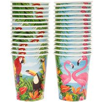 Home Kitchen & Tableware Cups & Glasses Luau Paper Party Cups, 9 oz.