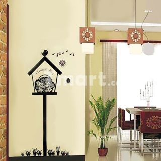 Black Flowers Box Wall Sticker   Tmart