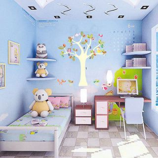 Owls Birds&Tree Mural Art Removable Decals Wall Sticker Decor Kids