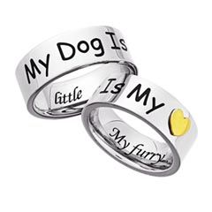 My Dog Is My Heart Two Tone Stainless Steel