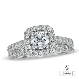 Vera Wang LOVE Collection 2 CT. T.W. Diamond Frame Bridal Set in 14K