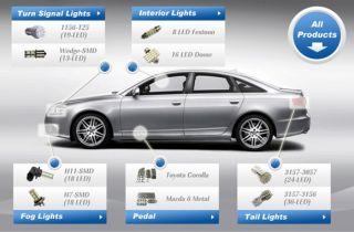 1210 15 SMD LED Flexible Strip Car Lights Bar Line White 12V   Tmart