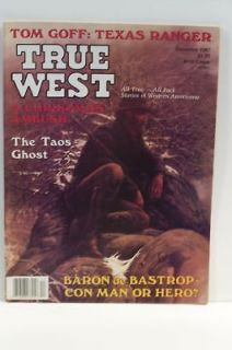 True West Magazine Dec 1987 Tom Goff Texas Ranger