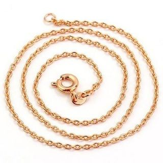 17.7 9K Rose Gold Filled Womens Chain Necklace,40303