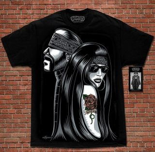 Chicano Art Lowrider Cali Life David Gonzales Homies T Shirt M 4XL New