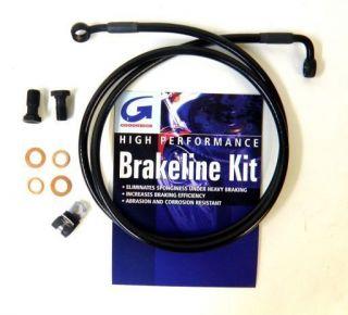 GOODRIDGE BLACK FRONT BRAKE LINE FOR HARLEY SPORTSTER XL883L AND
