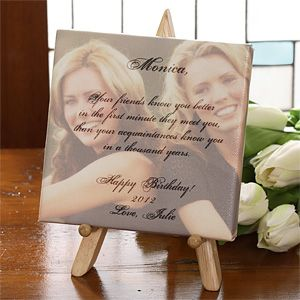 Personalized Friendship Picture and Poem Canvas Art   3474