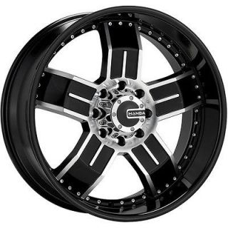 24 MAMBA M8 BLACK/MACH WHEELS DODGE RAM 1500 *4 RIMS *