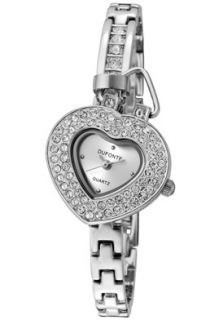 Womens Follow Your Heart White Austrian Crystal Silver Dial Silver