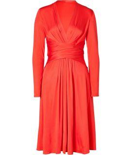 Issa Tomato Wrap Silk Jersey Dress  Damen  Kleider