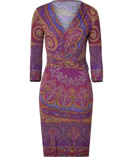 Etro Purple/Curry Paisley Print Jersey Dress  Damen  Kleider