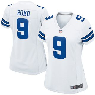 Dallas Cowboys Womens Nike Dallas Cowboys Tony Romo Game White Jersey