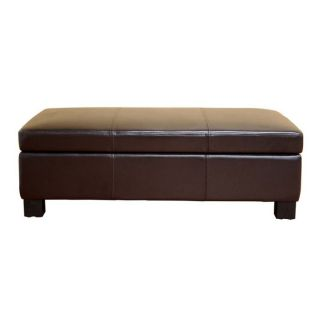Gallo Large Leather Flip Top Storage Ottoman at Brookstone—Buy Now
