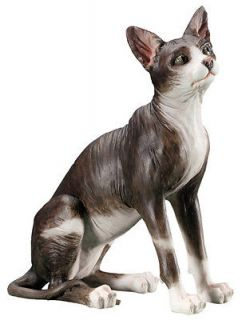 New Sphynx Cat Statue Figurine Kitten Figure Kitty Art