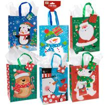Bulk Small Christmas Characters Gift Bags, 2 ct. Packs at DollarTree