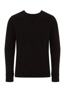 Home Mens Jumpers & Cardigans Basic Long Sleeved Black Top