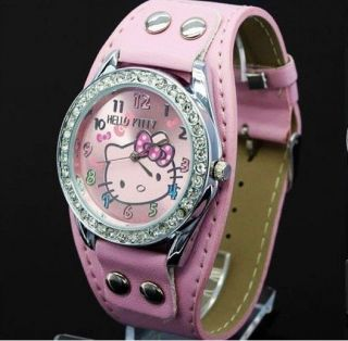 New lovely hellokitty Girls Ladies Wrist Watch Quartz Fashion Best