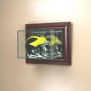 Wall Mounted Glass Mini Helmet Display Case NFL NCAA