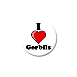 Love Gerbils 25mm Button Badge   Cool Cute Rodent Animal Pet Rat