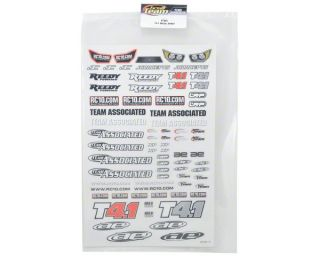 Team Associated T4.1 Decal Sheet [ASC7489]  Stickers & Decals   A