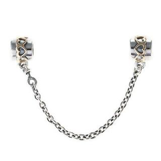 PANDORA Sterling Silver & 14k Gold Safety Chain Charm 790307 05