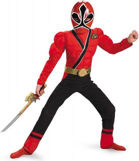 Power Rangers Samurai   Red Ranger Muscle Child Costume