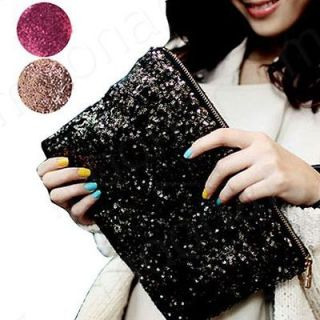 Girl Sequins Shine Bling Evening Party Bags Clutch Handbag Purse