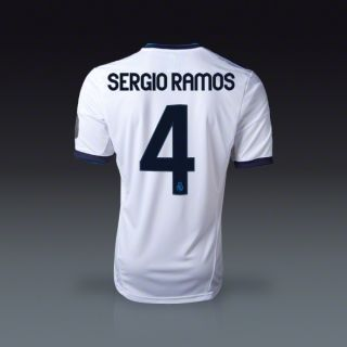 adidas Sergio Ramos Real Madrid UCL Home Jersey 12/13  SOCCER