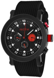 Red Line 18101 01RD1 BB Watches,Mens Compressor Black Dial Black IP