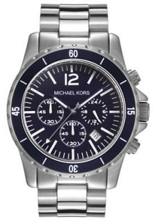 Michael Kors MK8123 Watches,Mens Chronograph Blue Dial Stainless