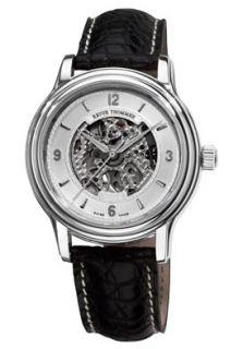 Revue Thommen 12200 2532 Watches,Mens Silver Skeleton Dial Black