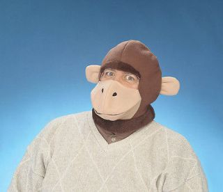 Curious George Inspired Brown Monkey Hood Mask Costume