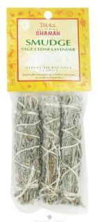 Buy Triloka   Global Shaman Smudge Mini Sage, Cedar, Lavender   3 Pack