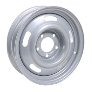 Summit Racing 55 Series Silver Rally Wheel 15x4 5x4.75 BC Set of 2