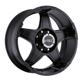 tec Wizard matte black wheels 8x180 +18 / 2011 ^ GMC SIERRA 2500 3500