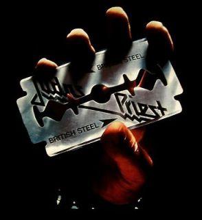 JUDAS PRIEST cd cvr BRITISH STEEL Official SHIRT MED New keep the