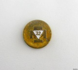 Rite   Vintage Cross 32nd Degree Masonic Member Enamel Lapel Pin