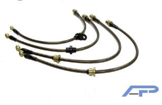 AGENCY POWER FRONT BRAKE LINES 94 98 FORD MUSTANG COBRA (Fits 1995