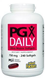 Buy Natural Factors   PGX Daily Ultra Matrix 750 mg.   240 Softgels at