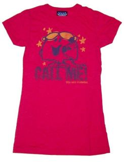 New Authentic Junk Food Little Miss Chatterbox Call Me Juniors Tee