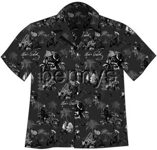 New ELVIS Presley Motorcycles Hawaiian Camp Shirt, 3XL